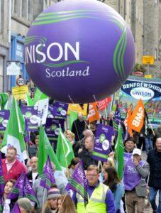 Edinburgh Scrap the Cap rally