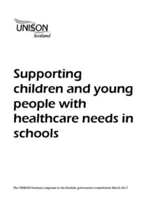 thumbnail of response re healthcare in schools march 2017