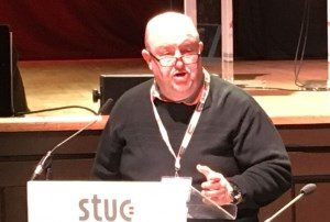 Sam Macartney moved the Venezuela motion at the STUC