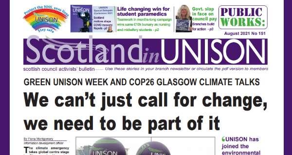 Scotland in UNISON August 2021