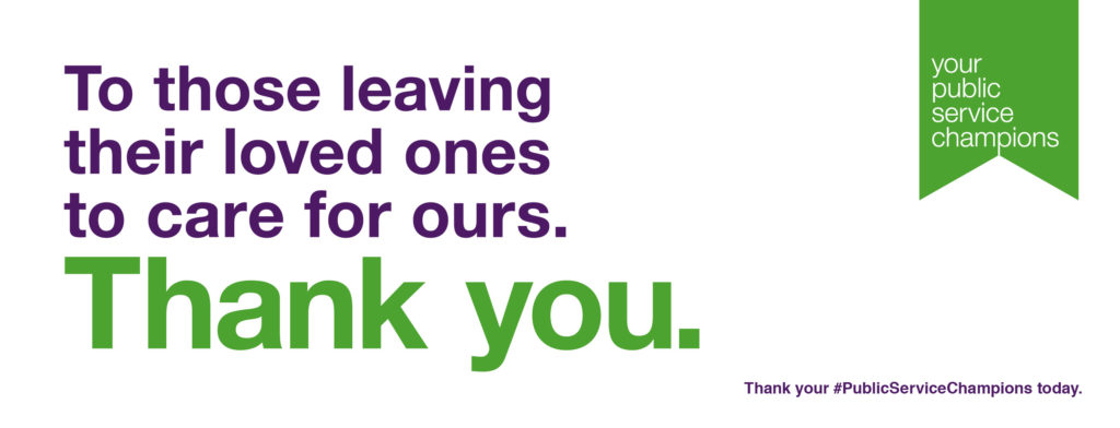 thank you public service champios