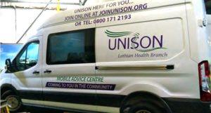 UNISON mobile advice unit